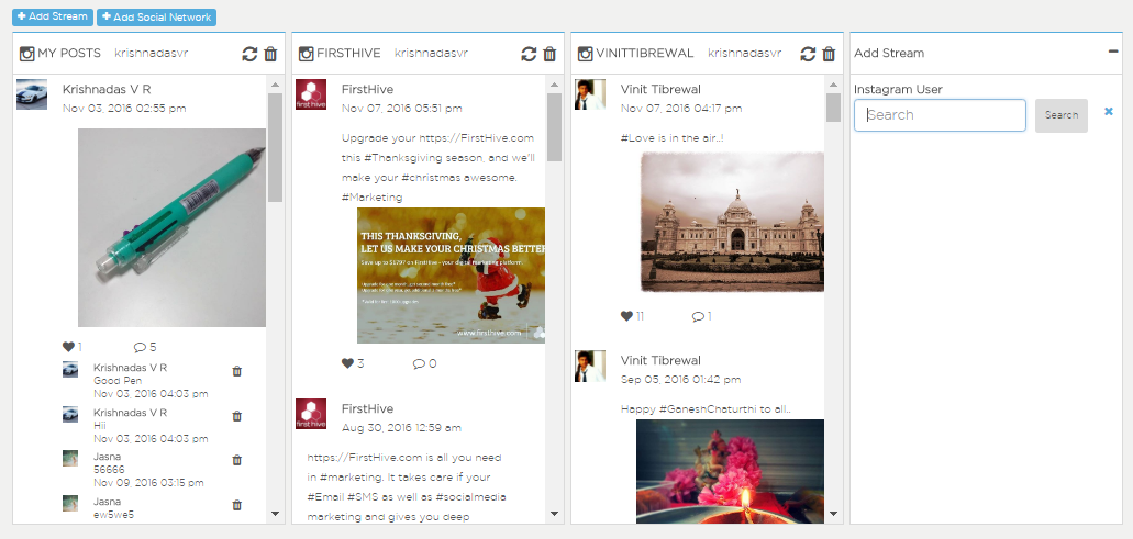 Instagram Streams